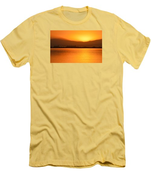 The Hour Is Golden Men's T-Shirt (Slim Fit) by AJ  Schibig