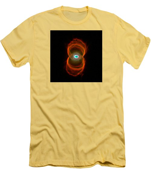 The Hourglass Nebula  Men's T-Shirt (Slim Fit) by Hubble Space Telescope