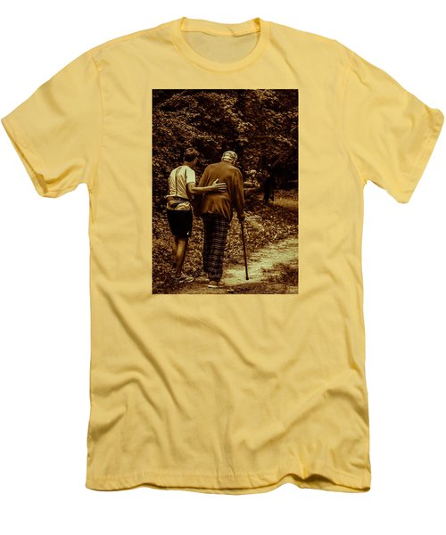 The Journey Men's T-Shirt (Slim Fit) by Michael Nowotny