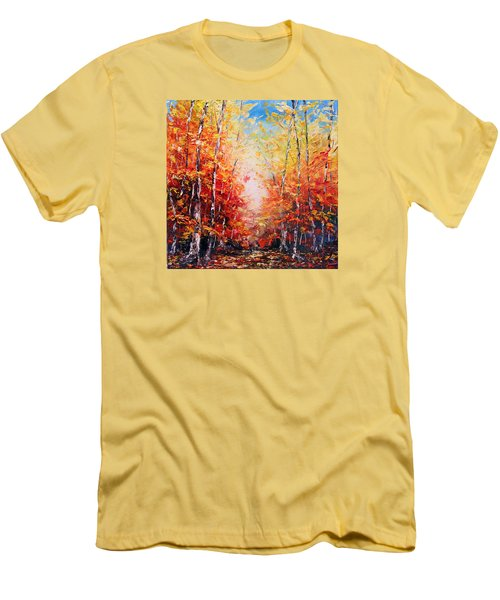 The Joy Ahead Men's T-Shirt (Slim Fit) by Meaghan Troup
