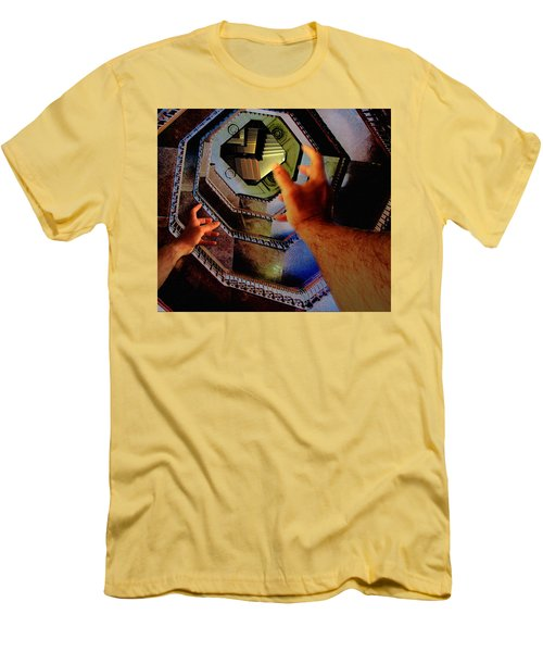 Men's T-Shirt (Slim Fit) featuring the photograph The Landing by Christopher Woods