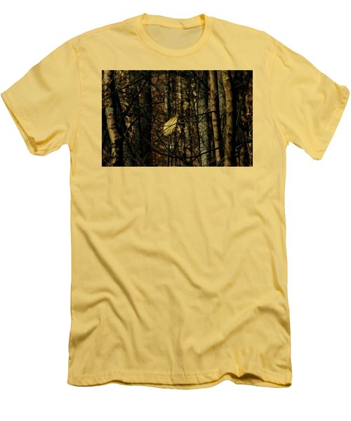 Men's T-Shirt (Slim Fit) featuring the photograph The Last Leaf by Bruce Patrick Smith