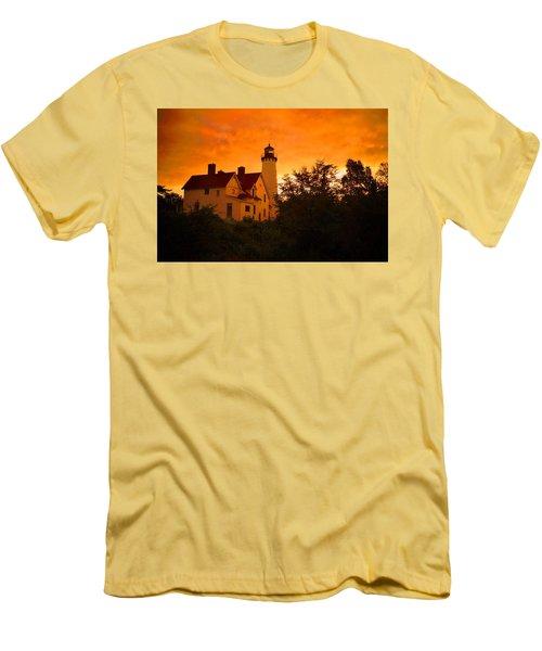 The Light At Dusk Men's T-Shirt (Slim Fit) by Daniel Thompson