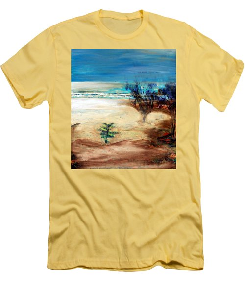 Men's T-Shirt (Athletic Fit) featuring the painting The Little Pine Tree by Winsome Gunning