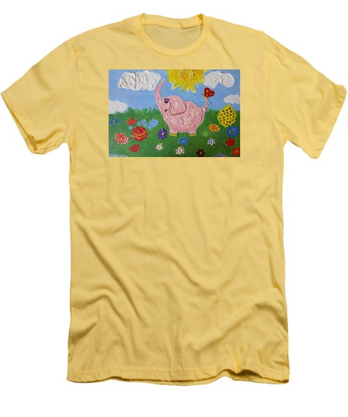 Little Pink Elephant Men's T-Shirt (Athletic Fit)
