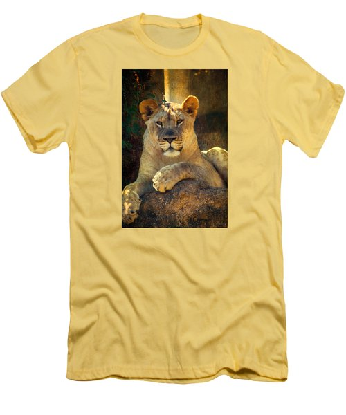 Men's T-Shirt (Slim Fit) featuring the photograph The Look by John Rivera
