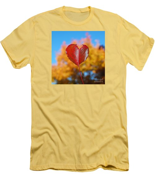 Men's T-Shirt (Slim Fit) featuring the photograph The Love Of Fall by Debra Thompson