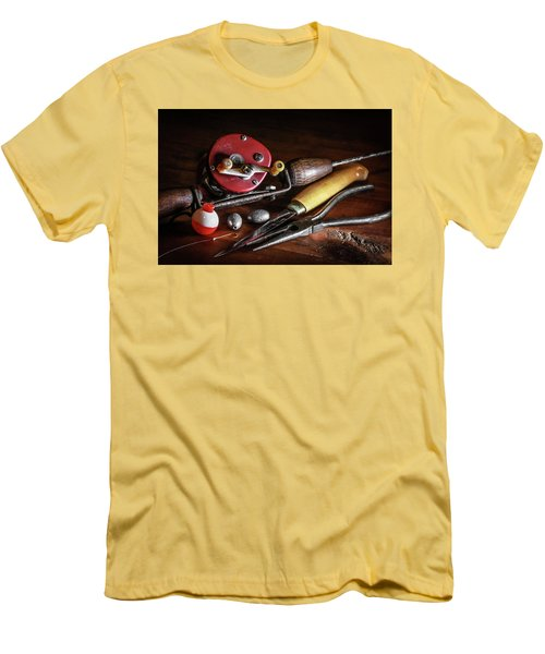 Men's T-Shirt (Slim Fit) featuring the photograph The Lure Of Fishing by Ray Congrove