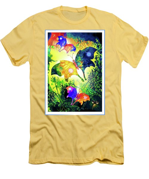 The Magic Of Butterflies Men's T-Shirt (Slim Fit) by Hartmut Jager