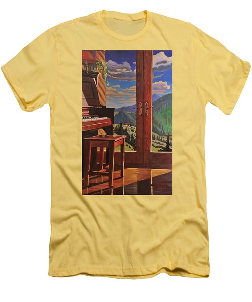 The Music Room Men's T-Shirt (Slim Fit) by Art West