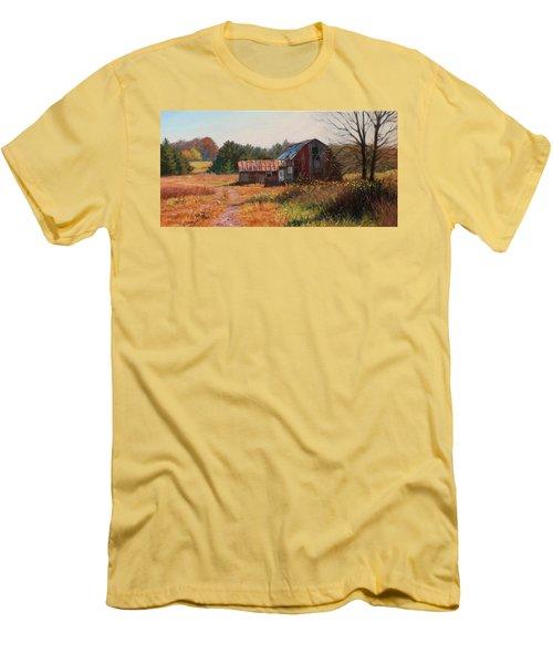The Neighbor's Barn Men's T-Shirt (Slim Fit) by Bonnie Mason