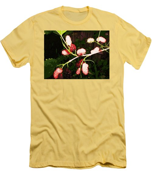 Men's T-Shirt (Athletic Fit) featuring the digital art The New Mulberries by Winsome Gunning