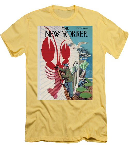 The New Yorker Cover - March 22nd, 1958 Men's T-Shirt (Athletic Fit)