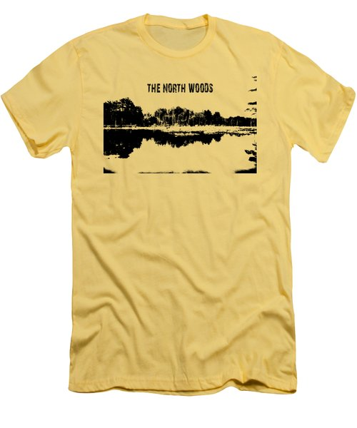 The North Woods Men's T-Shirt (Slim Fit) by Mim White