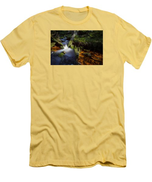 the Oder in the Harz National Park Men's T-Shirt (Slim Fit) by Andreas Levi