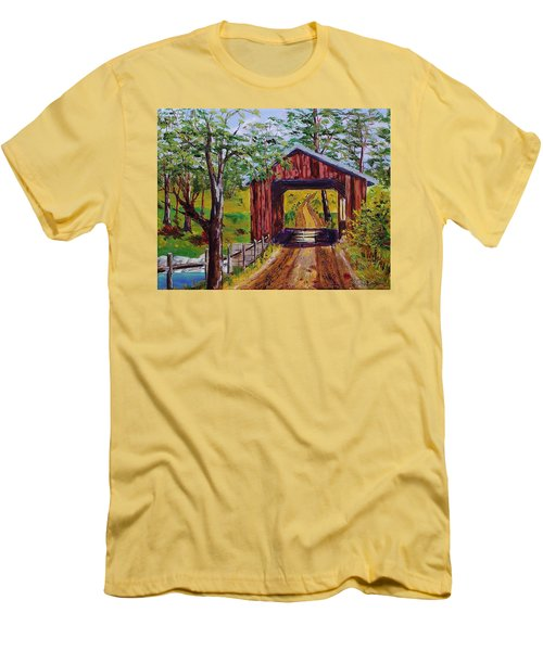 The Old Covered Bridge Men's T-Shirt (Athletic Fit)