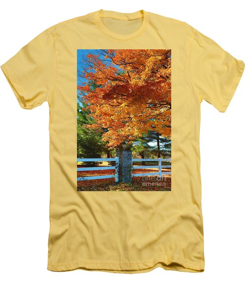 Men's T-Shirt (Slim Fit) featuring the photograph The Old Yard Light by Robert Pearson