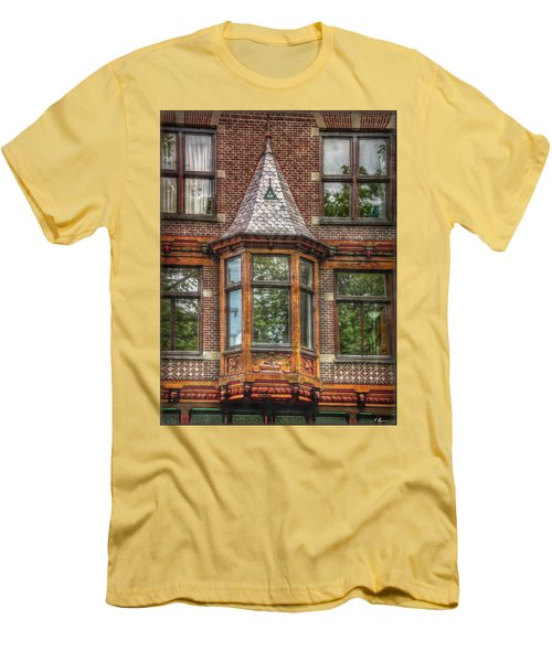 Men's T-Shirt (Athletic Fit) featuring the photograph The Oriel by Hanny Heim