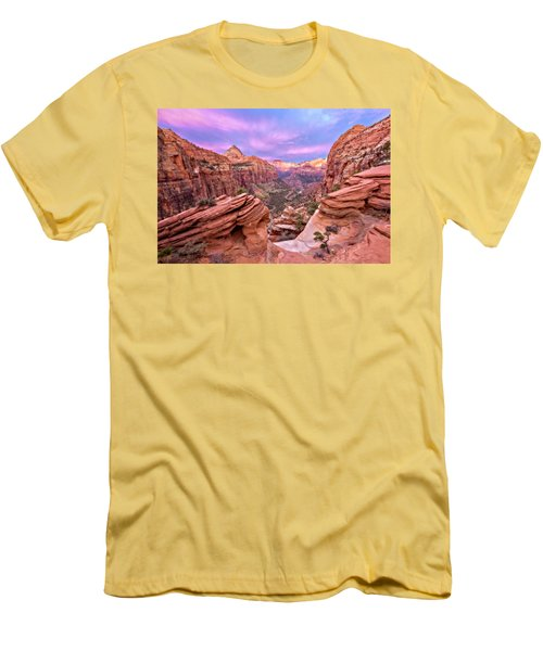 Men's T-Shirt (Slim Fit) featuring the photograph The Overlook by Eduard Moldoveanu