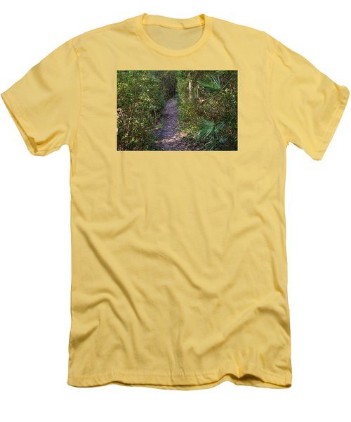 The Path Of Life Men's T-Shirt (Slim Fit) by Kenneth Albin