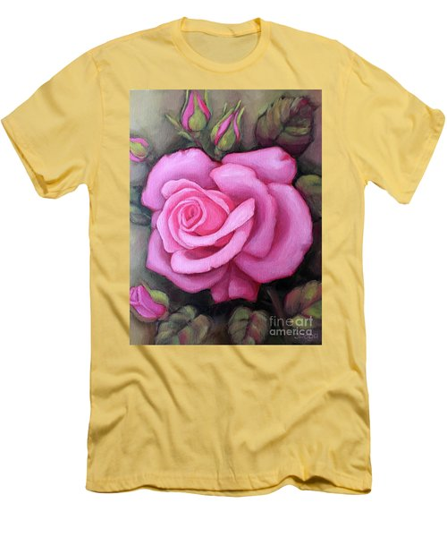 The Pink Dream Rose Men's T-Shirt (Athletic Fit)
