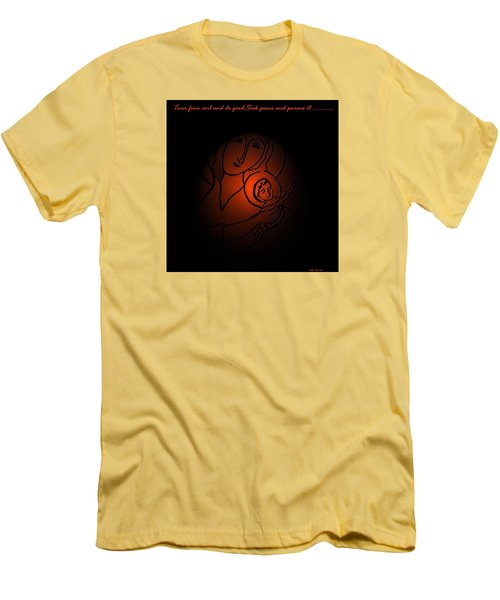 The Prince Of Peace Men's T-Shirt (Slim Fit) by Latha Gokuldas Panicker