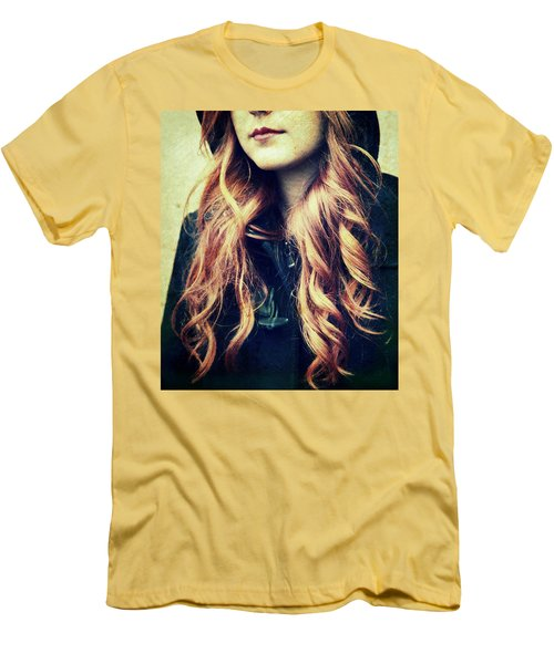 The Red-haired Girl Men's T-Shirt (Slim Fit) by Vittorio Chiampan