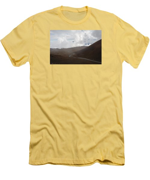 Men's T-Shirt (Slim Fit) featuring the photograph The Road To The Snow Goddess by Ryan Manuel