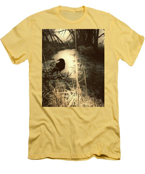 The Robin And The Wren Are Flown. Winter Crow Men's T-Shirt (Athletic Fit)