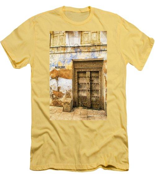 The Rustic Door Men's T-Shirt (Slim Fit) by Amyn Nasser