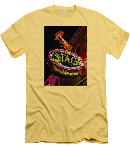 The Stage On Broadway Men's T-Shirt (Slim Fit) by Stephen Stookey