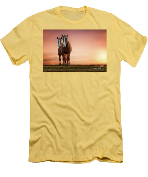 The Stallion And The Mare II Men's T-Shirt (Slim Fit) by Tamyra Ayles
