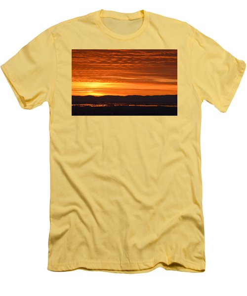 Men's T-Shirt (Slim Fit) featuring the photograph The Textured Sky by AJ Schibig