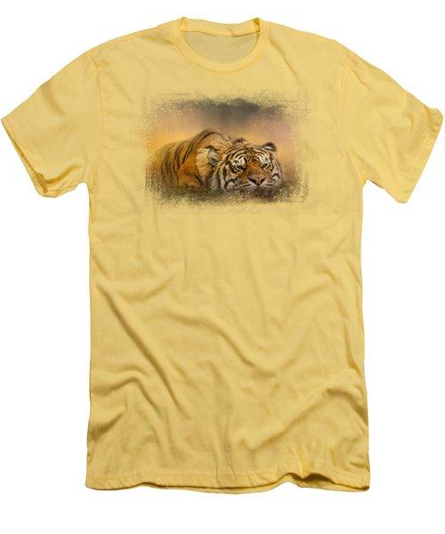 The Tiger Awakens Men's T-Shirt (Slim Fit) by Jai Johnson