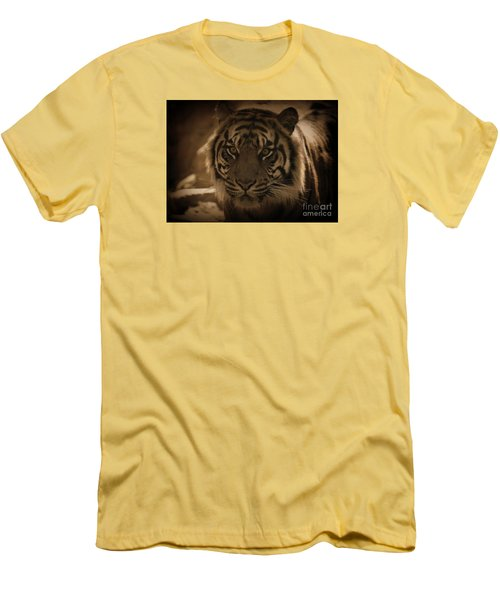Men's T-Shirt (Slim Fit) featuring the photograph The Tiger by Lisa L Silva