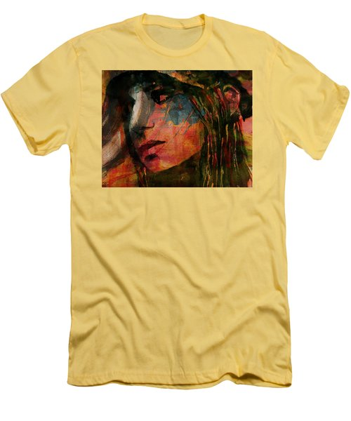 Men's T-Shirt (Slim Fit) featuring the painting The Way We Were  by Paul Lovering