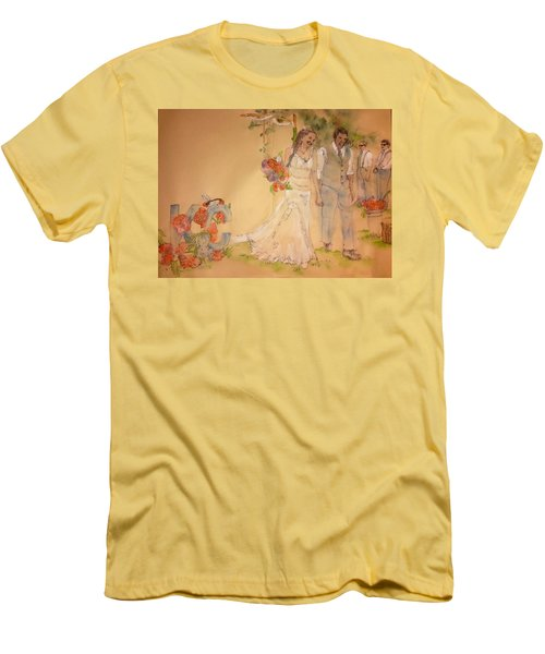 The Wedding Album  Men's T-Shirt (Slim Fit) by Debbi Saccomanno Chan