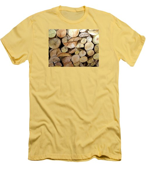 The Woodpile Men's T-Shirt (Slim Fit) by Carol Grimes
