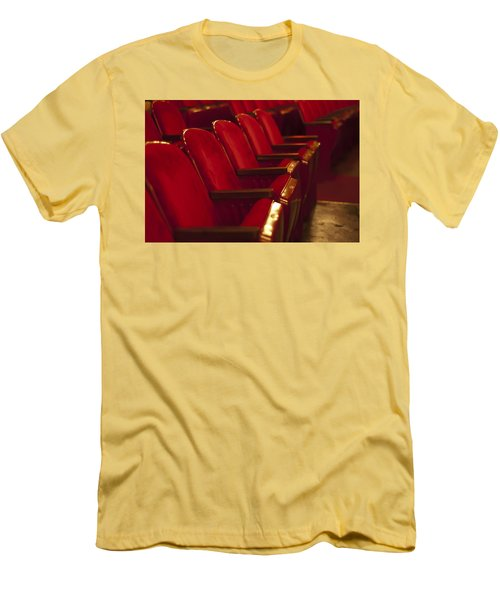 Men's T-Shirt (Slim Fit) featuring the photograph Theater Seating by Carolyn Marshall