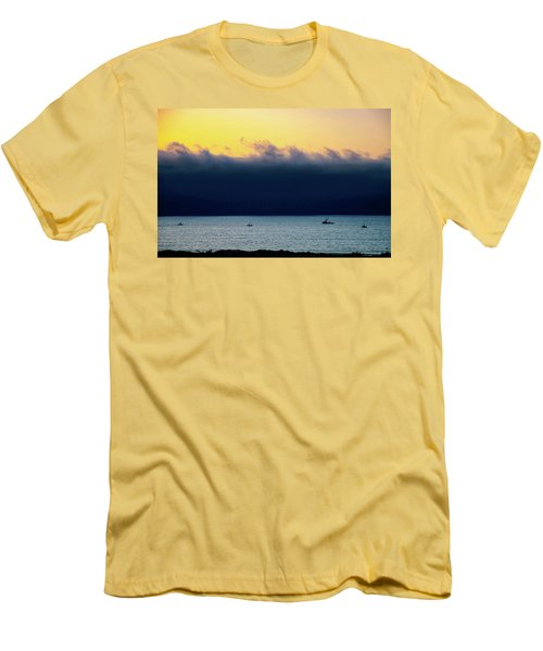 Men's T-Shirt (Slim Fit) featuring the photograph Thick Fog Blankets Sunset by Joseph Hollingsworth