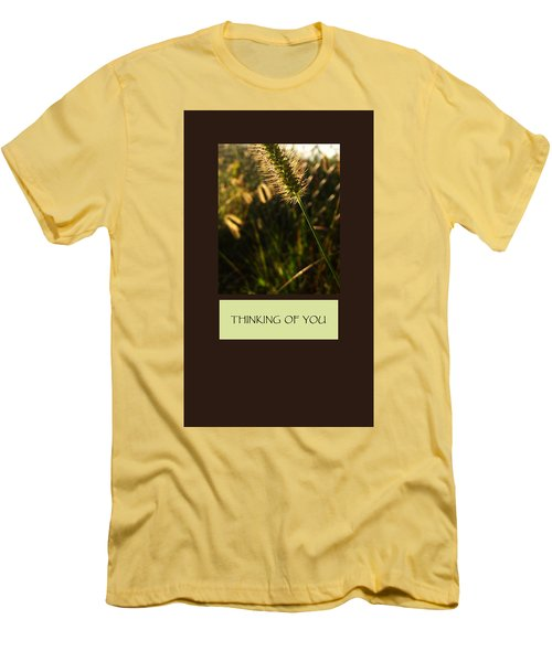 Thinking Of You Men's T-Shirt (Slim Fit) by Mary Ellen Frazee