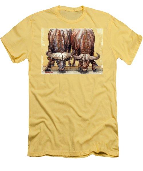 Thirsty Buffalo  Men's T-Shirt (Slim Fit) by Margaret Stockdale