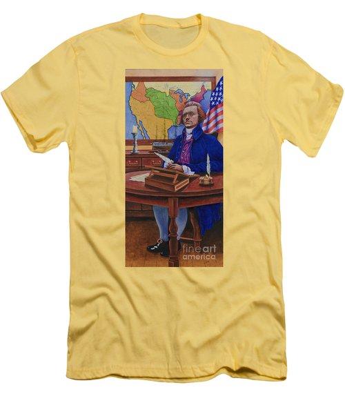 Thomas Jefferson Men's T-Shirt (Slim Fit) by Michael Frank