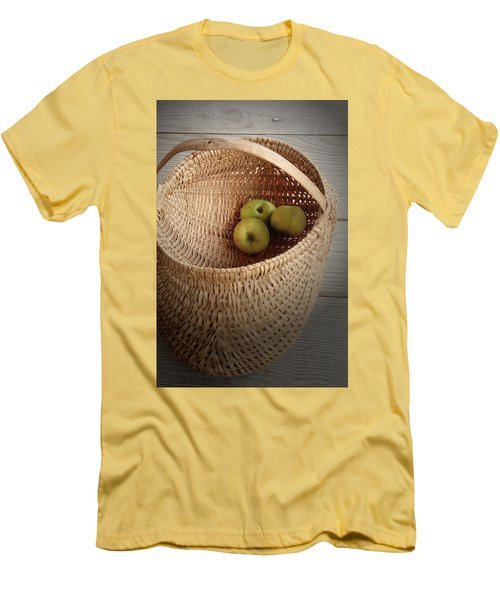 Men's T-Shirt (Slim Fit) featuring the photograph Three Apples by Emanuel Tanjala