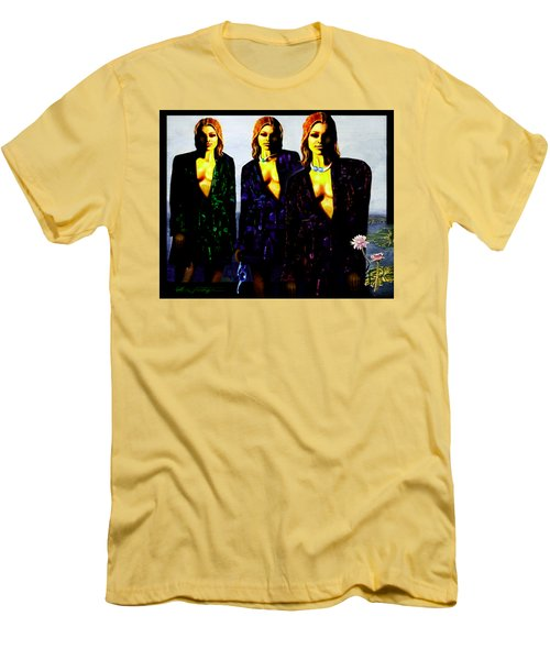 Three  Beautiful Triplet Ladies Men's T-Shirt (Slim Fit) by Hartmut Jager