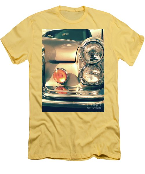 Men's T-Shirt (Athletic Fit) featuring the photograph Three Lights - Gold by Rebecca Harman