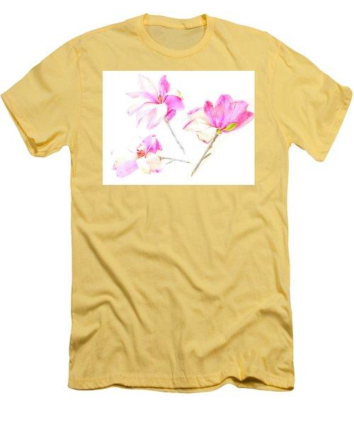 Three Magnolia Flowers Men's T-Shirt (Athletic Fit)