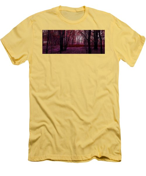 Through A Forest Men's T-Shirt (Slim Fit) by Michele Carter