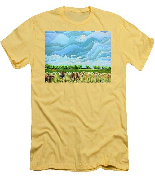 Thunder Sky Men's T-Shirt (Athletic Fit)