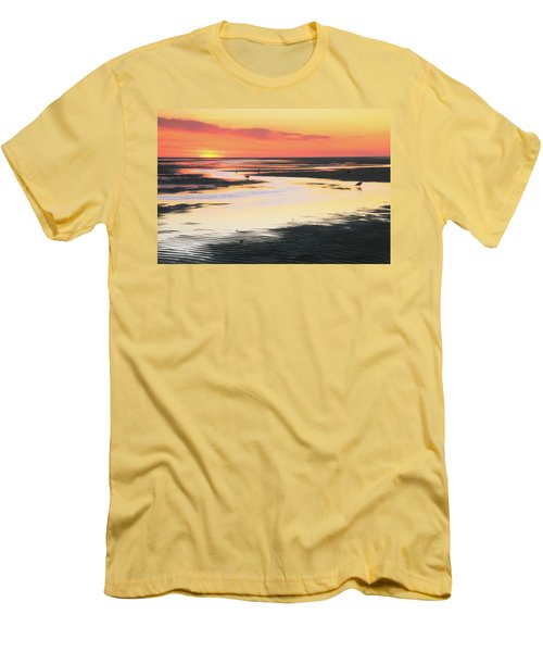 Tidal Flats At Sunset Men's T-Shirt (Athletic Fit)